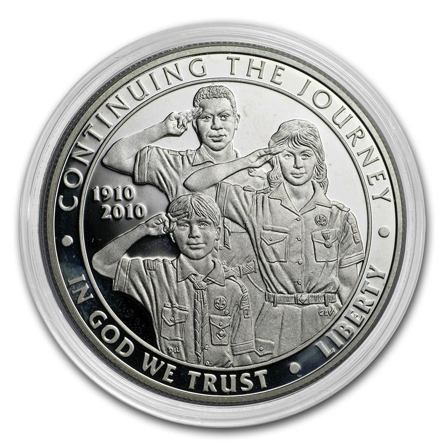 2010-P Boy Scouts Centennial $1 Silver Commem Pf (Capsule Only)