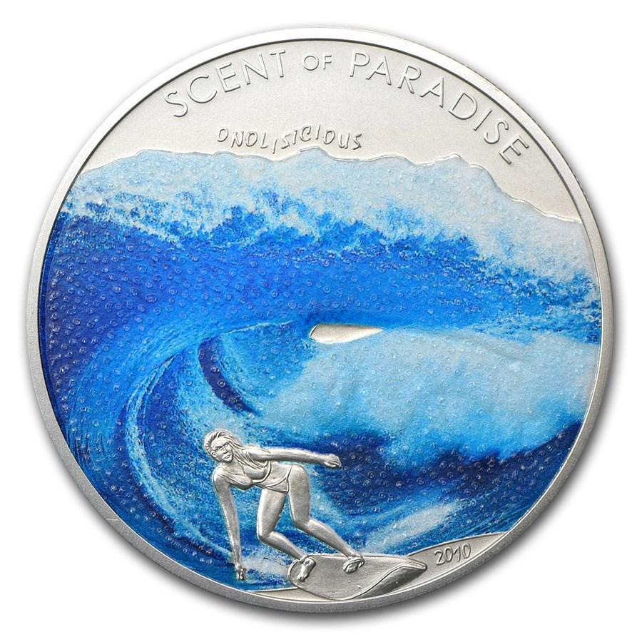 2010 Palau Silver $5 Scent of Paradise Sea Breeze