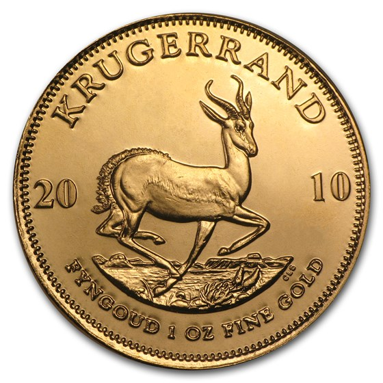 2010 South Africa 1 oz Gold Krugerrand BU