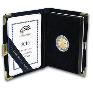 2010-W 1/10 oz Proof Gold American Eagle (w/Box & COA)