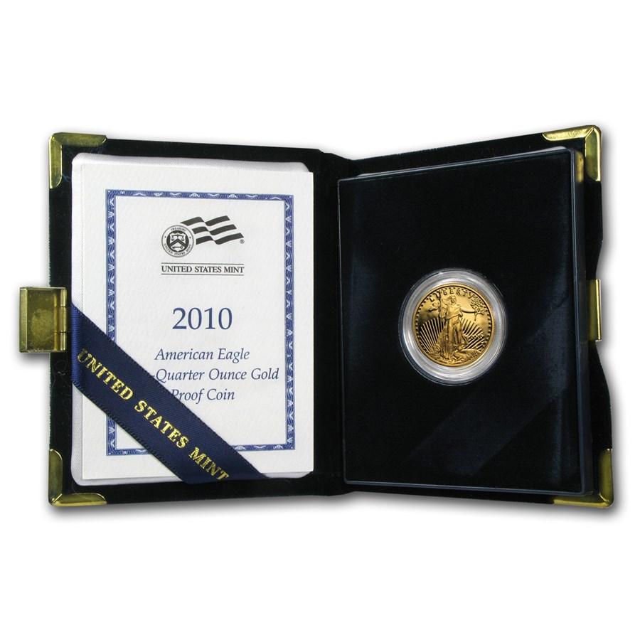 2010-W 1/4 oz Proof Gold American Eagle (w/Box & COA)