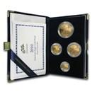 2010-W 4-Coin Proof American Gold Eagle Set (w/Box & COA)