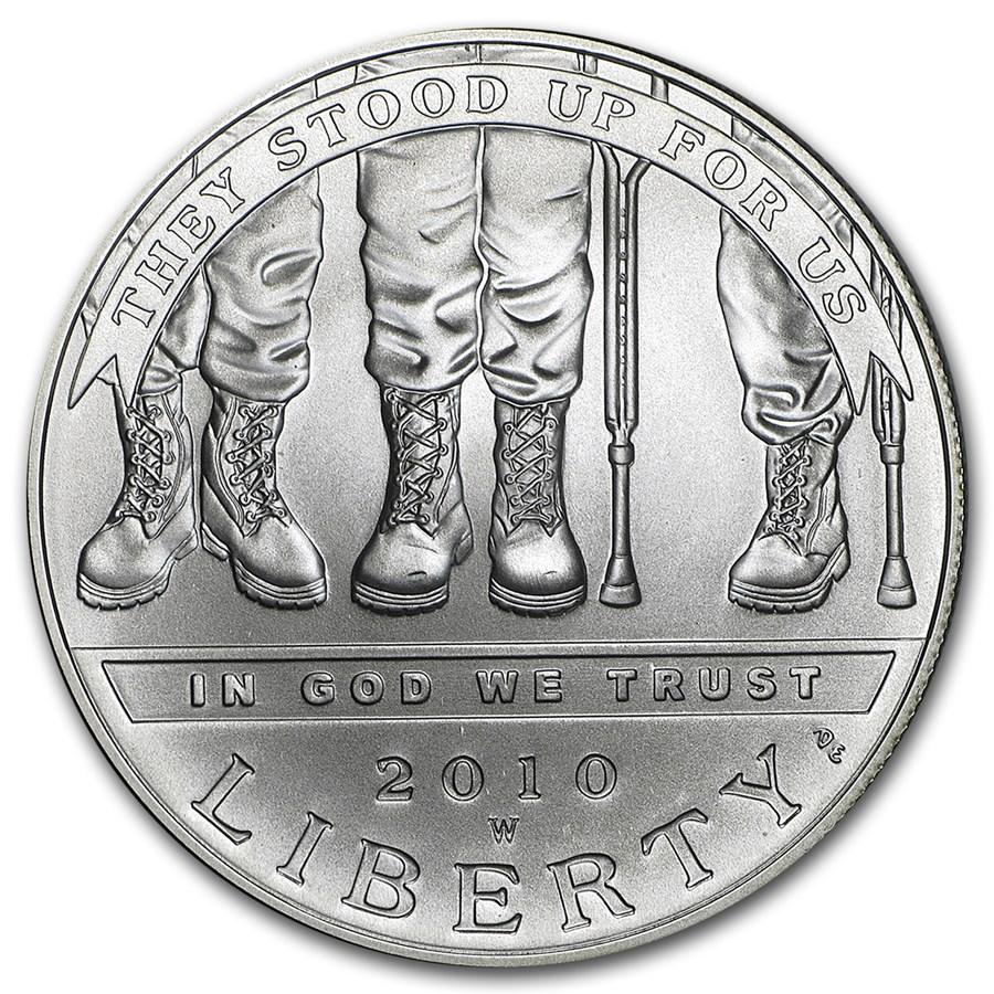 2010-W Disabled American Veterans $1 Silver Commem BU (Capsule)