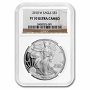 2010-W Proof American Silver Eagle PF-70 NGC