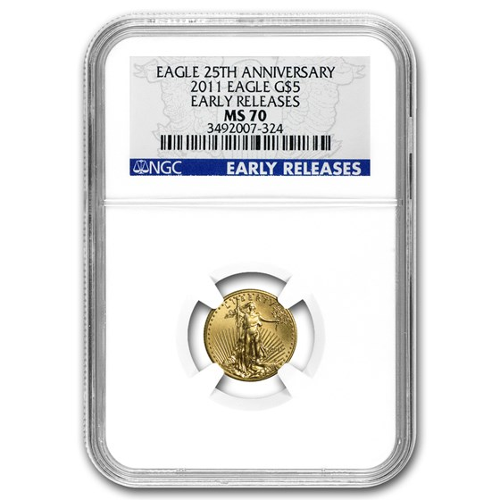 2011 1/10 oz American Gold Eagle MS-70 NGC (Early Releases)