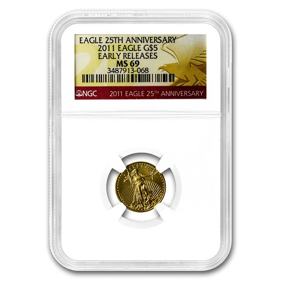 2011 1/10 oz Gold American Eagle MS-69 NGC (Early Releases)