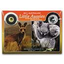 2011 1/2 Gram Gold Kangaroo & 1/10 oz Silver Koala ANA Chicago BU