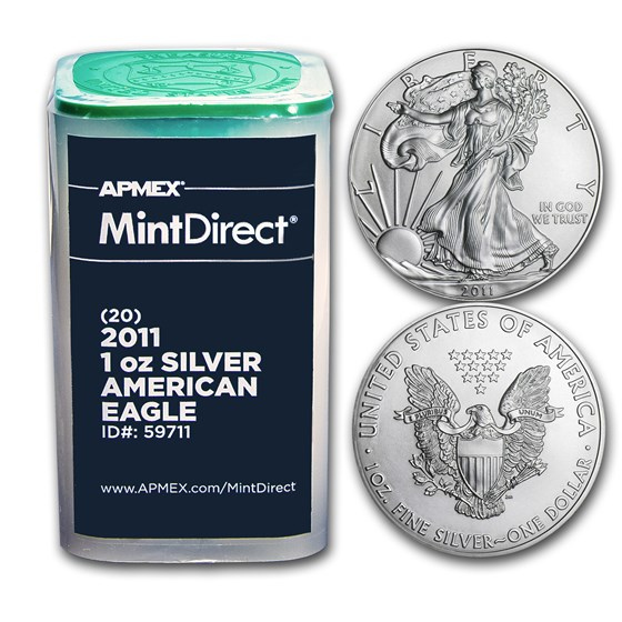 2011 1 oz American Silver Eagles (20-Coin MintDirect® Tube)