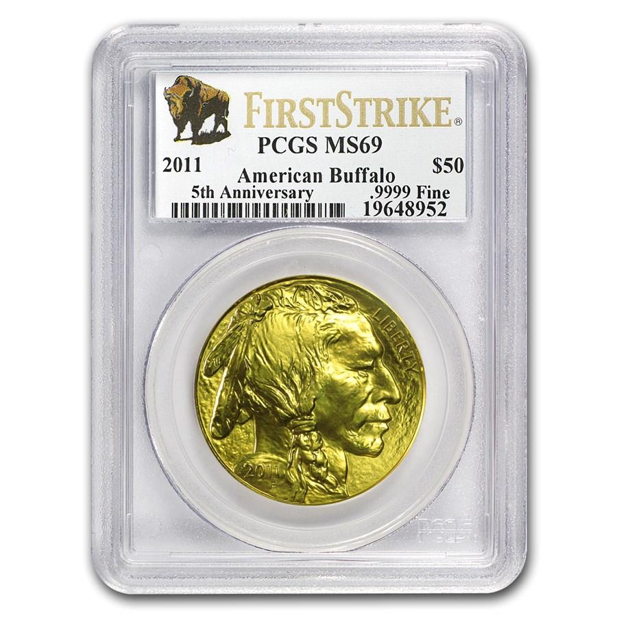 2011 1 oz Gold Buffalo MS-69 PCGS (FirstStrike®)
