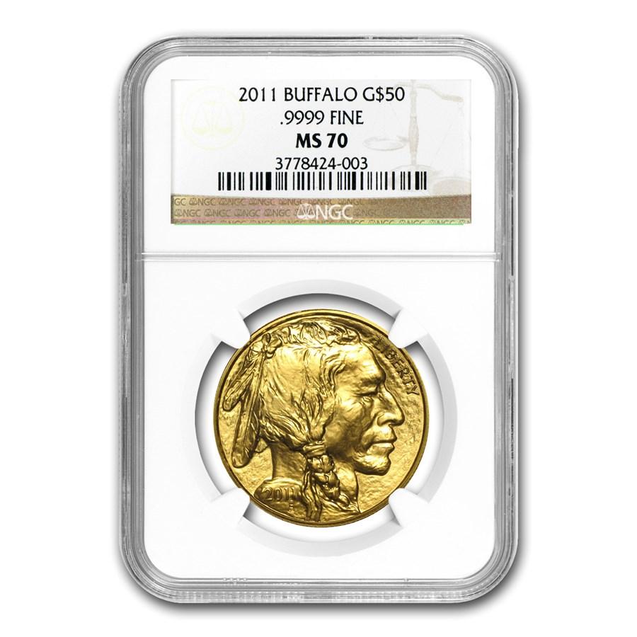 2011 1 oz Gold Buffalo MS-70 NGC