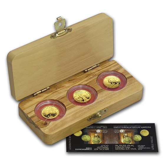 2011-13 Israel 3-Coin Gold Biblical Art Series Proof Set