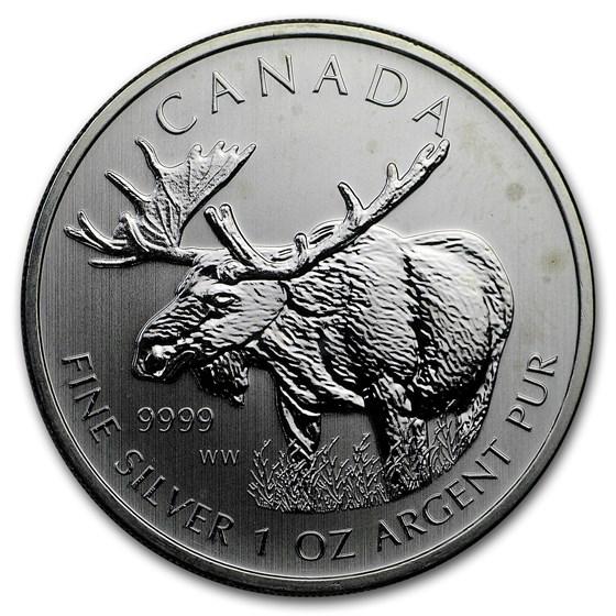 2011-17 CAN 1 oz Silver Wildlife Series Random BU (Abrasions)