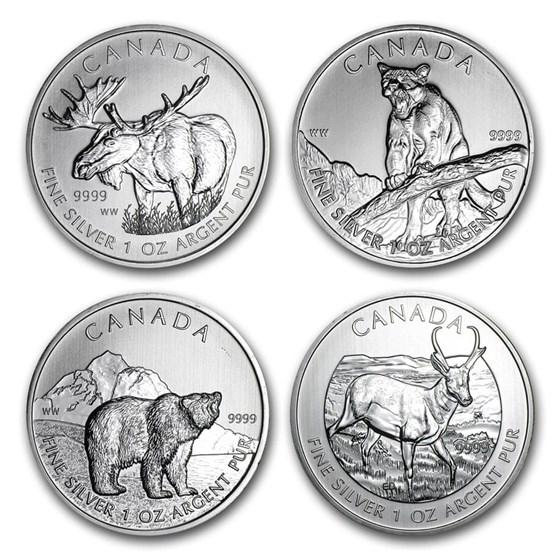 2011-2015 Canada 1 oz Silver Wildlife Series (Random)
