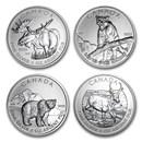 2011-2017 Canada 1 oz Silver Wildlife Series (Random)