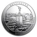 2011 5 oz Silver ATB Gettysburg National Military Park, PA