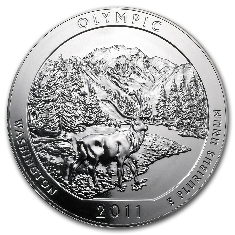 2011 P Olympic Quarter WA Washington National Park ATB ~ UNC 2nd  Golden TONED