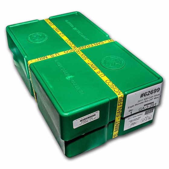 2011 500-Coin Silver Eagle Monster Box (SF Mint, Sealed)