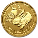 2011 Australia 1/10 oz Gold Lunar Rabbit BU (Series II)