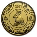 2011 Australia 1/10 oz Gold Year of the Rabbit Proof