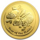 2011 Australia 1/2 oz Gold Lunar Rabbit BU (Series II)