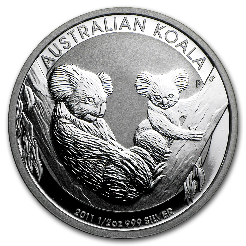 2011 AUSTRALIA KOALA SERIES 5oz Silver Coin in Box