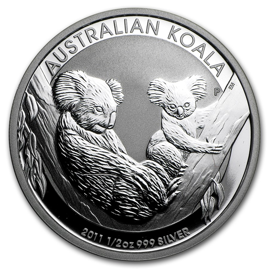 2011 Australia 1/2 oz Silver Koala BU