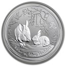 2011 Australia 1/2 oz Silver Year of the Rabbit BU (Series II)