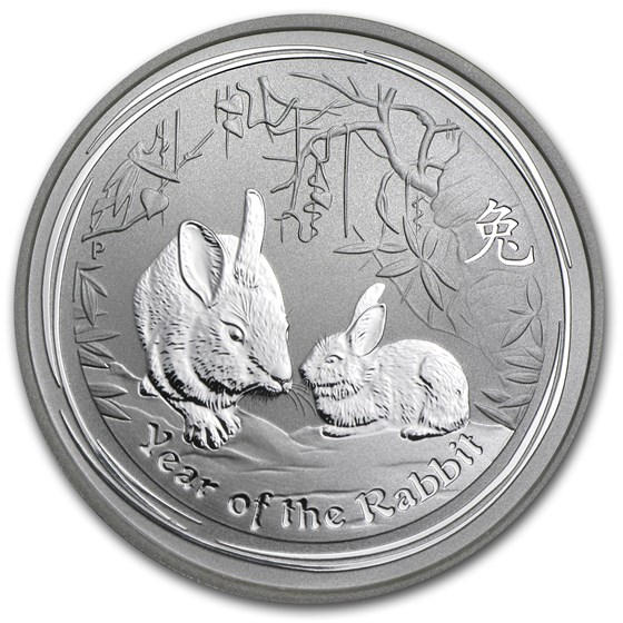 2011 Australia 1/2 oz Silver Year of the Rabbit BU (Series II)