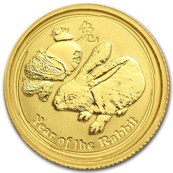 2011 Australia 1/20 oz Gold Lunar Rabbit BU (Series II)