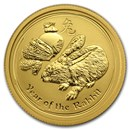 2011 Australia 1/4 oz Gold Lunar Rabbit BU (Series II)