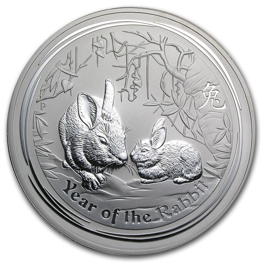 2011 Australia 1 kilo Silver Year of the Rabbit BU