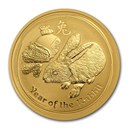 2011 Australia 1 oz Gold Lunar Rabbit BU (Series II)