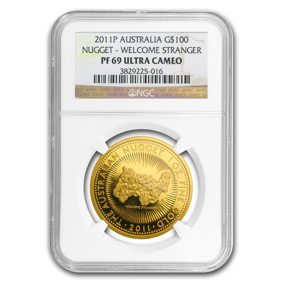 2011 Australia 1 oz Gold Nugget PF-69 NGC (25th Anniv)