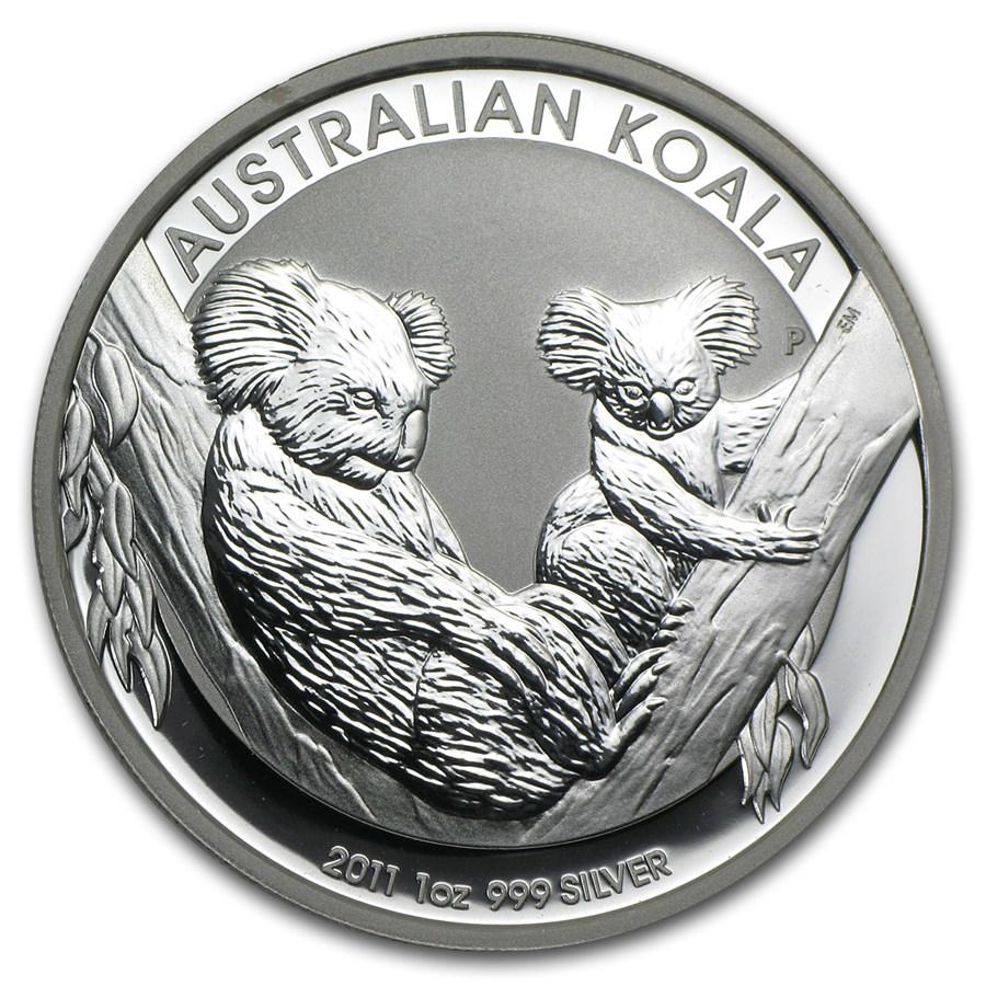 2011 Australia 1 oz Silver Koala BU