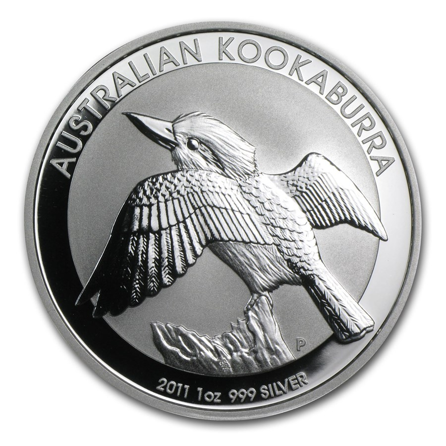 2011 Australia 1 oz Silver Kookaburra BU