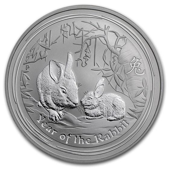2011 Australia 1 oz Silver Year of the Rabbit BU (Series II)