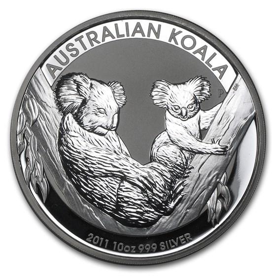 2011 Australia 10 oz Silver Koala BU