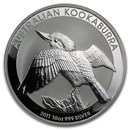 2011 Australia 10 oz Silver Kookaburra BU