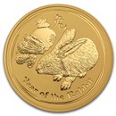 2011 Australia 2 oz Gold Lunar Rabbit BU (Series II)