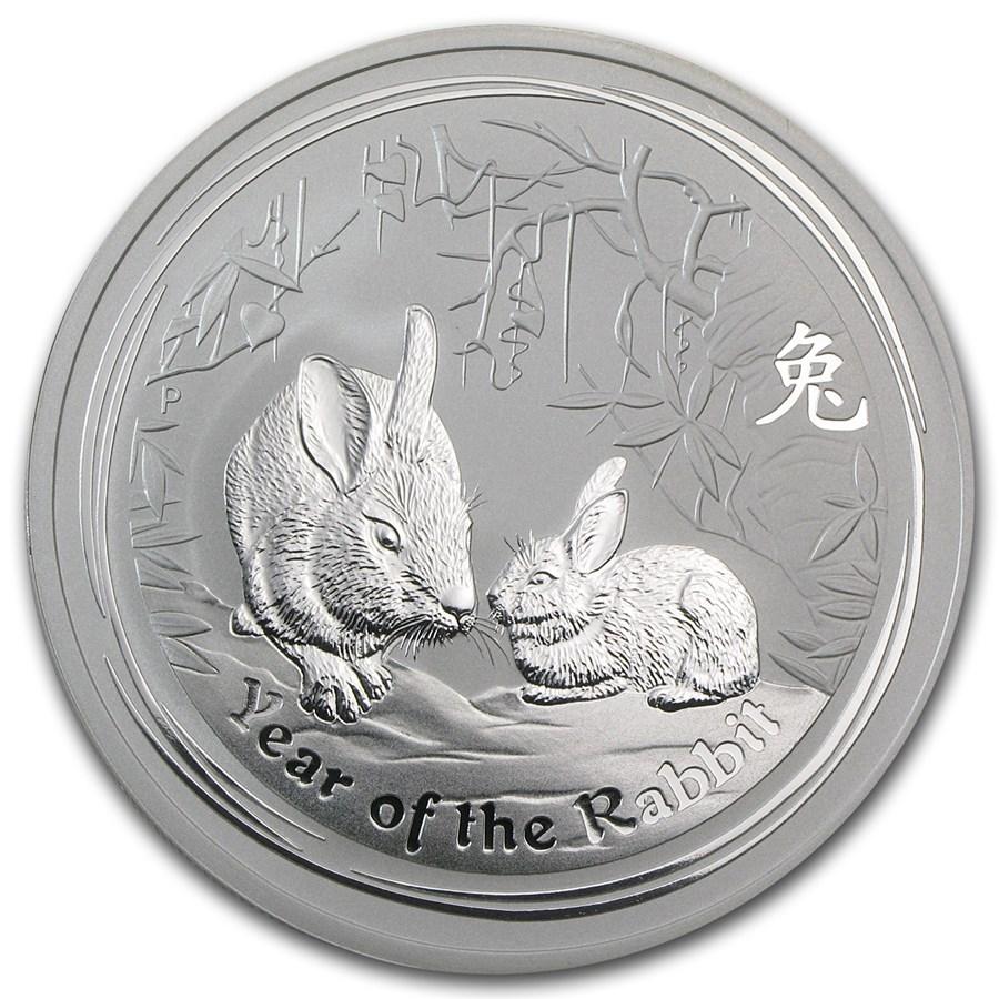 2011 Australia 2 oz Silver Year of the Rabbit BU