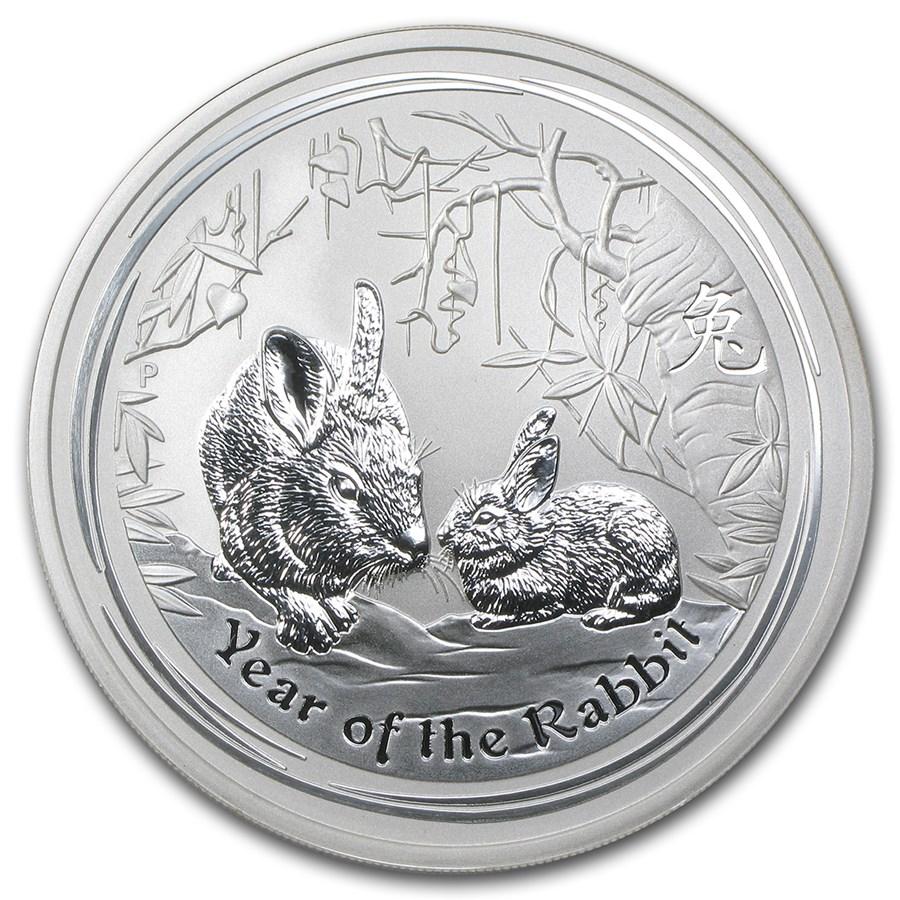 2011 Australia 5 oz Silver Year of the Rabbit BU