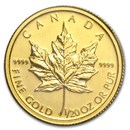2011 Canada 1/20 oz Gold Maple Leaf BU