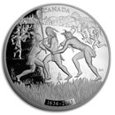 2011 Canada 1 kilo Silver $250 375th Anniv of Lacrosse (w/o Box)