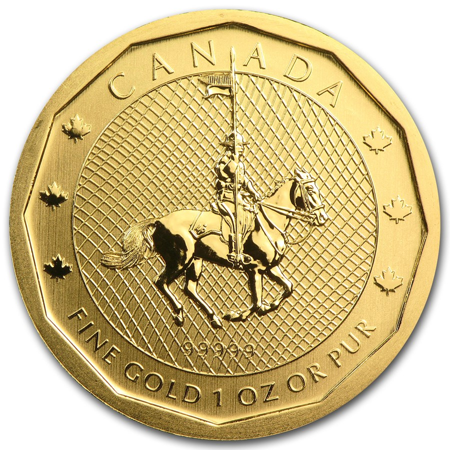 2011 Canada 1 oz Gold Mountie Maple Leaf .99999 BU (No Assay)