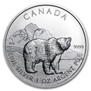 2011 Canada 1 oz Silver Wildlife Series Grizzly
