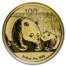 2011 China 1/4 oz Gold Panda BU (Sealed)