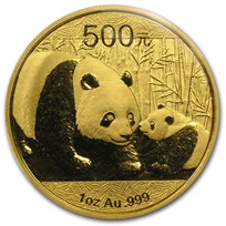 2011 China 1 oz Gold Panda BU (Sealed)
