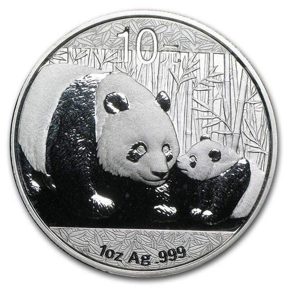 2011 China 1 oz Silver Panda BU (In Capsule)