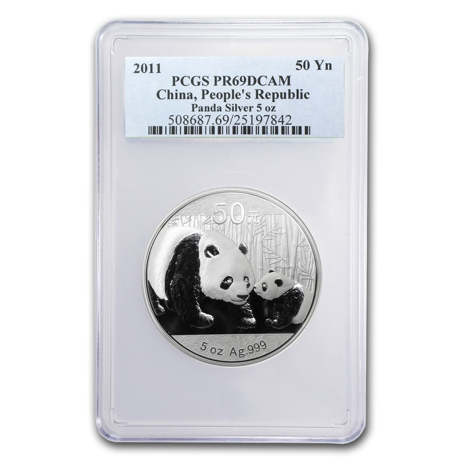 2011 China 5 oz Silver Panda PR-69 PCGS