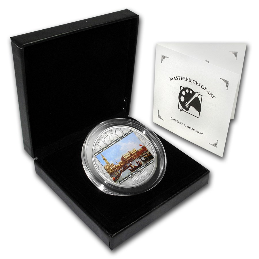 2011 Cook Islands Silver $20 Masterpieces of Art Canaletto